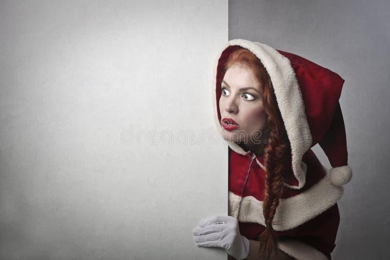 En chockade Santa Claus arkivfoto