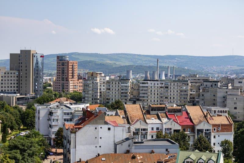 En Cityscape av Iasi, Rumänien arkivbilder
