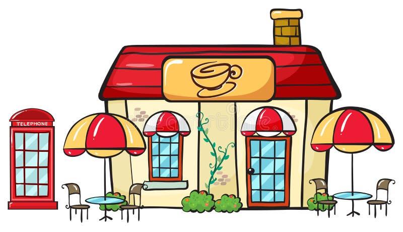 En coffee shop stock illustrationer