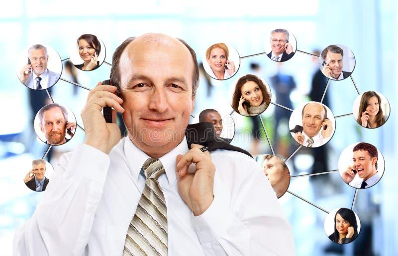 En collage av olikt affärsfolk royaltyfri foto