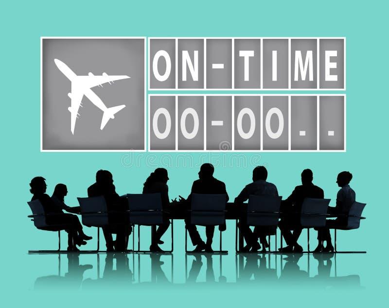 En concepto puntual de la gestión de la organización de la eficacia del tiempo ilustración del vector