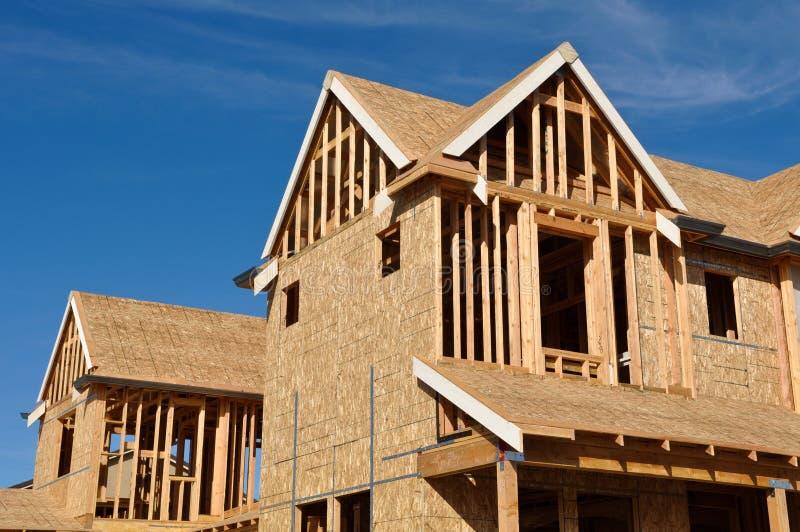 En construction à la maison photographie stock libre de droits
