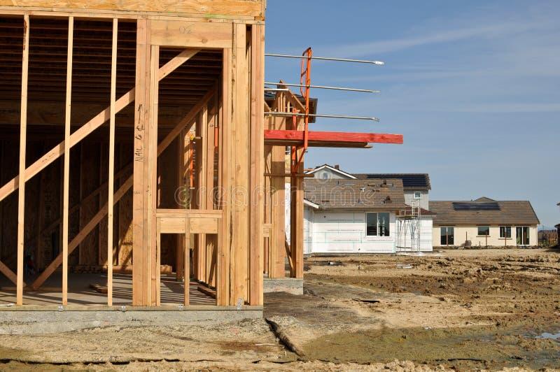 En construction à la maison neuf photographie stock libre de droits