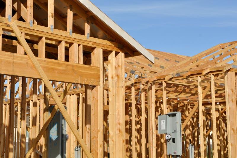 En construction à la maison neuf photo stock