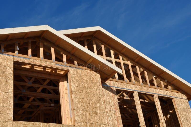 En construction à la maison neuf image libre de droits