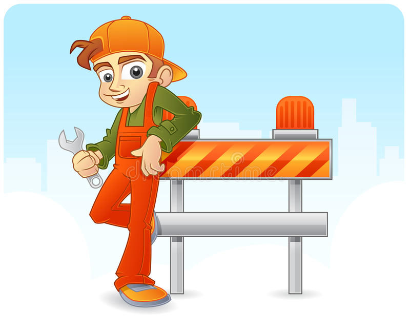 En construction illustration stock