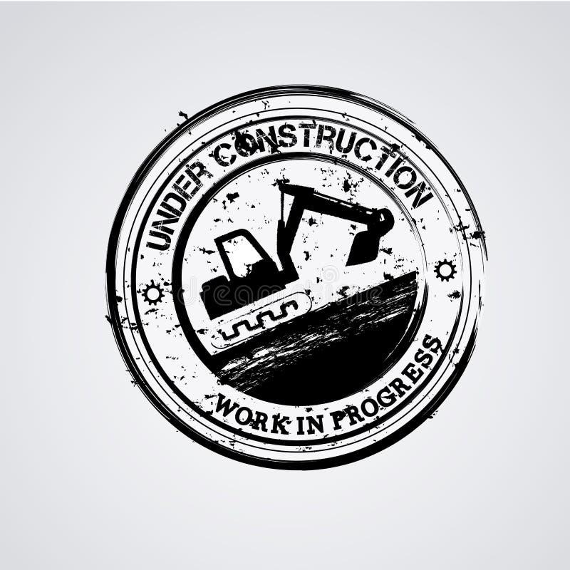 En construction illustration stock