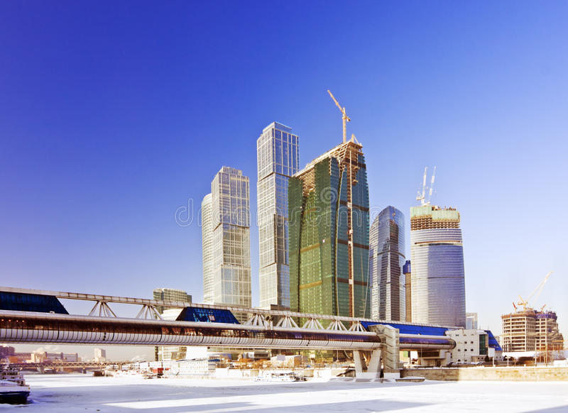 En construction complexe de ville de Moscou images stock