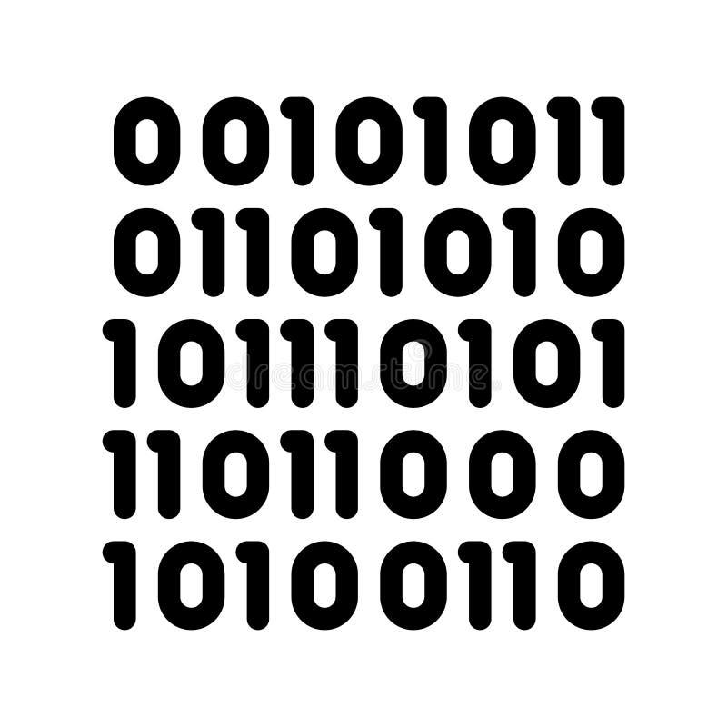 En coulant le code binaire Matrix dirigez la ligne mince icône illustration de vecteur