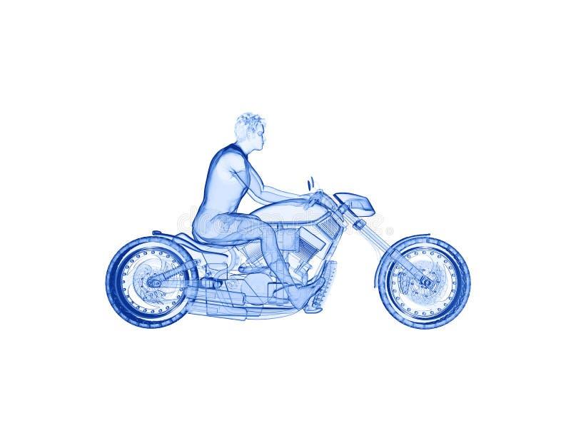 en cyklist vektor illustrationer