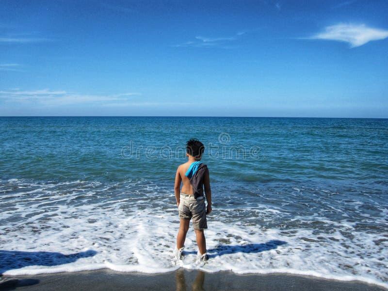 En dag i stranden royaltyfria foton