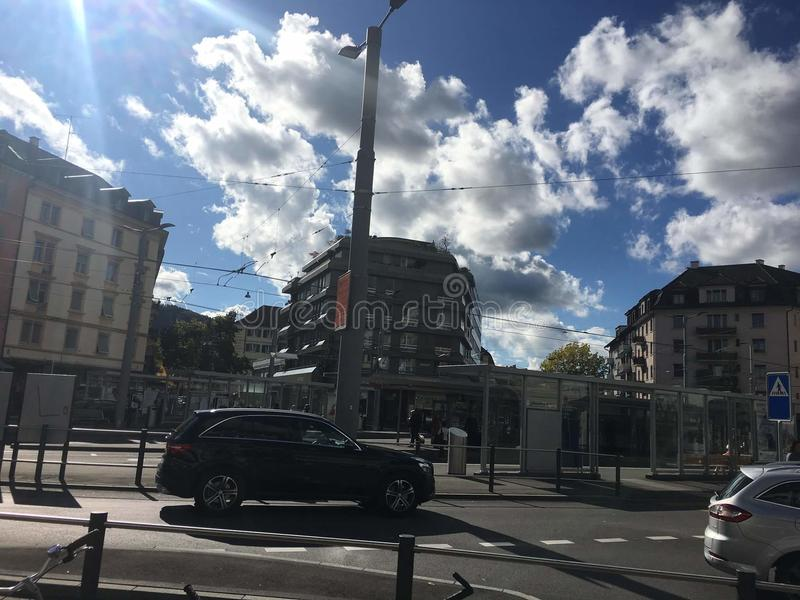 En dag på zurich Schweiz royaltyfria foton