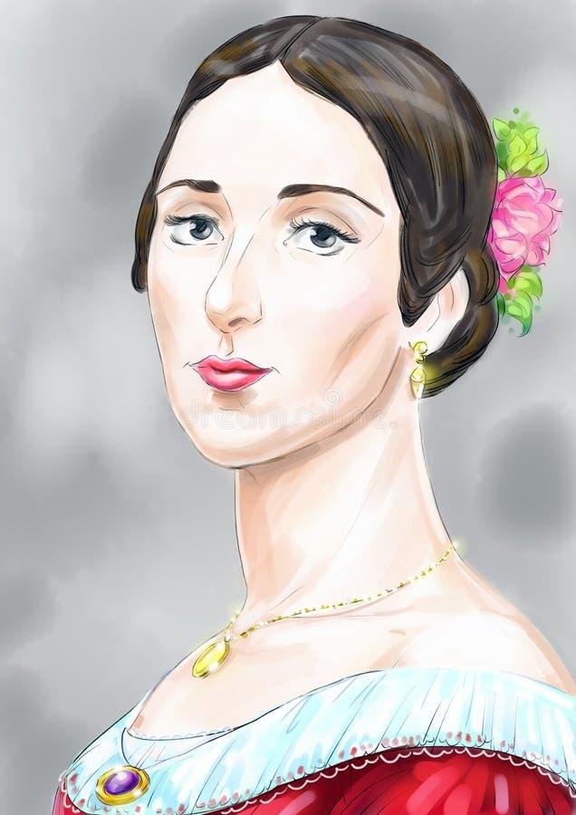 En dam royaltyfri illustrationer
