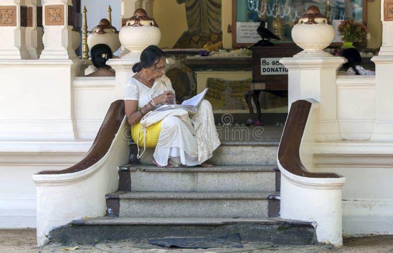 En damläsning i Sri Lanka arkivfoton