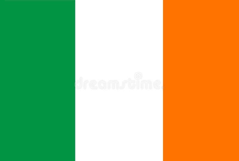 En dator frambragte diagramillustrationen av flaggan av Irland royaltyfri illustrationer