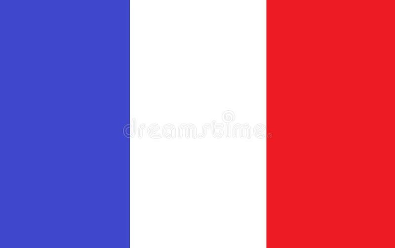 En dator frambragte illustrationen av den Frankrike flaggan vektor illustrationer