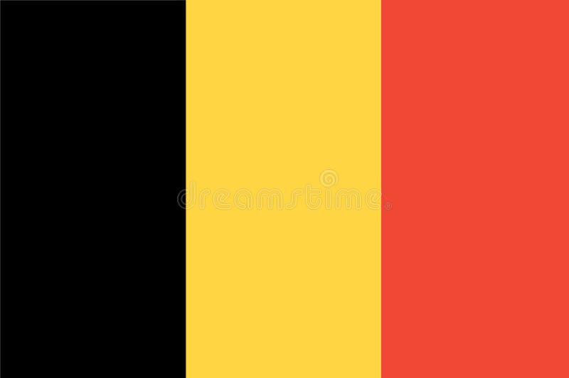En dator frambragte illustrationen av flaggan av Belgien vektor illustrationer