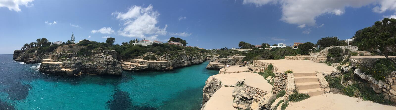 En de Cala de panorama Brut, Menorca photo stock