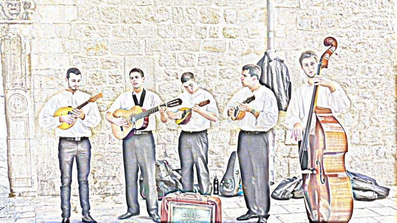 En de gespeelde Band stock afbeeldingen