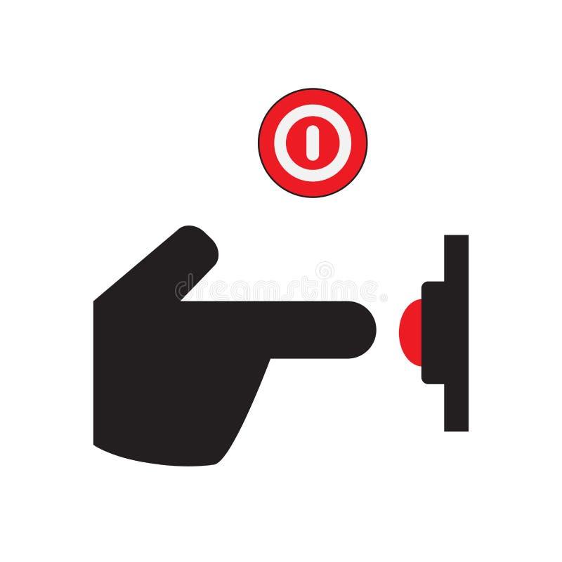 En de icono del bot?n Icono de la mano Un tecleo libre illustration