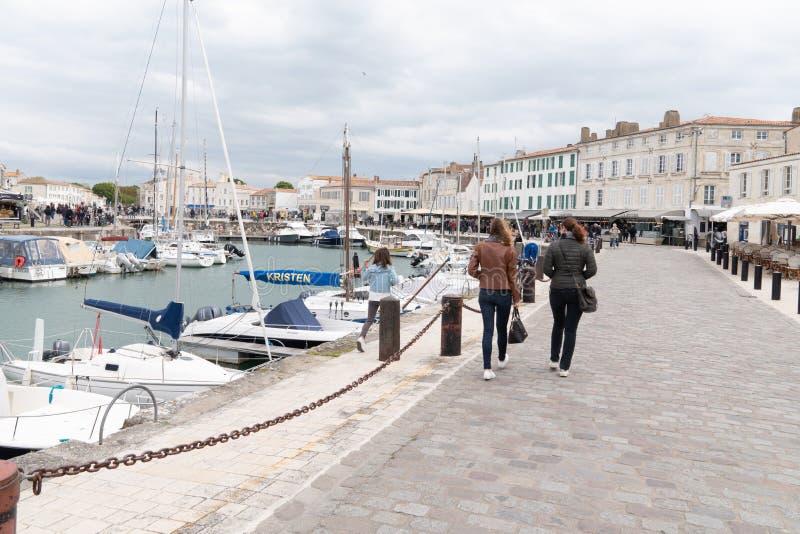 En de Saint Martin com referência - novo Aquitaine/França de Ile de re - a 05 04 2019 imagens de stock