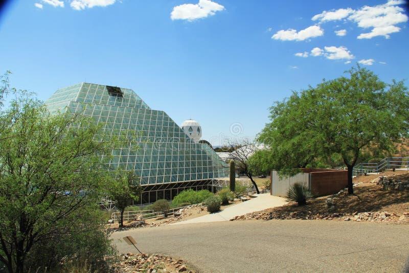 En dehors de la biosphère 2 dans Tucson Arizona photographie stock