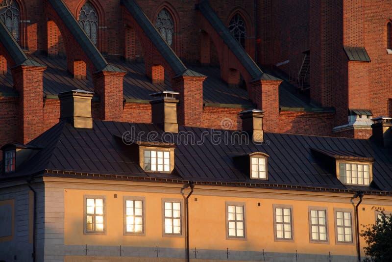 En del av katedralen i Uppsala, Sverige arkivfoto