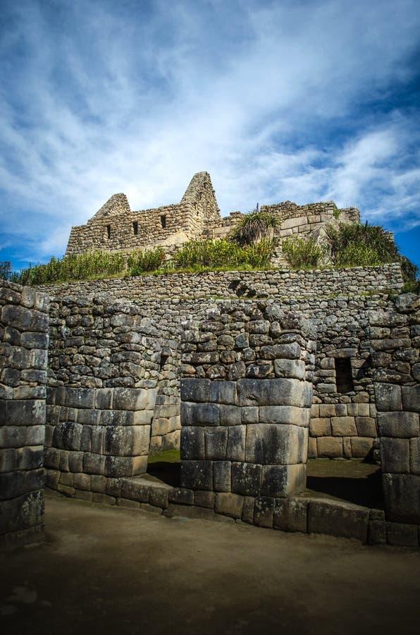 En del av Machuen Pichu fördärvar royaltyfri bild