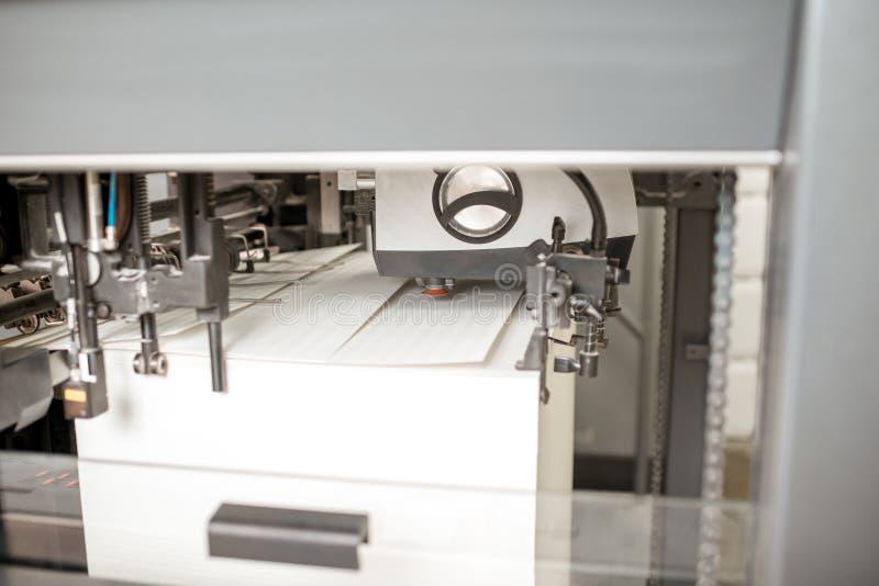 En del av maskinen för offset- printing royaltyfri fotografi