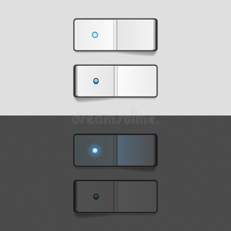 En del interruptor stock de ilustración