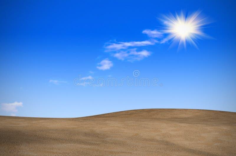 En desierto durante el período del calor ilustración del vector