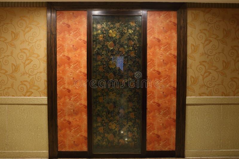 En design av gardinväggen arkivfoto