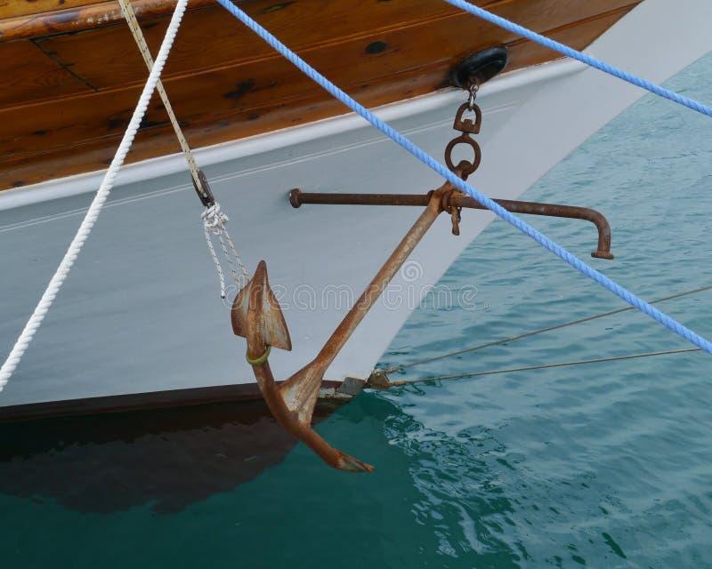 En detalj av ett klassiskt seglingskepp royaltyfria foton