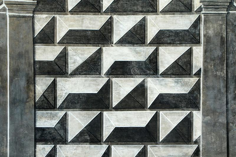 En detalj av en fasad av en slott fotografering för bildbyråer