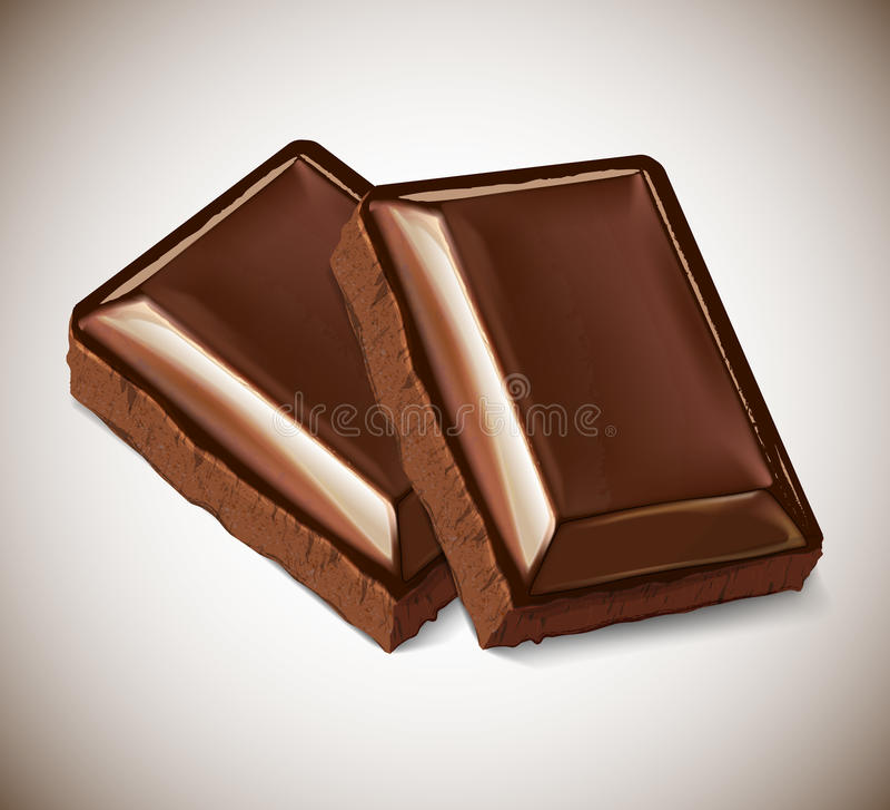 En deux pièces du chocolat illustration de vecteur