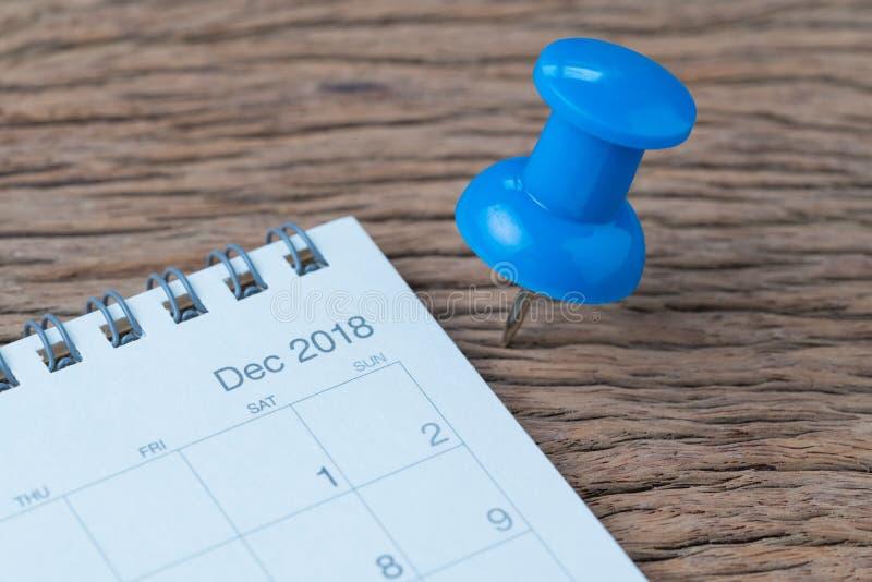 En diciembre de 2018, comentario de finales de ano, planeamiento de la fecha, cita, muerta fotografía de archivo