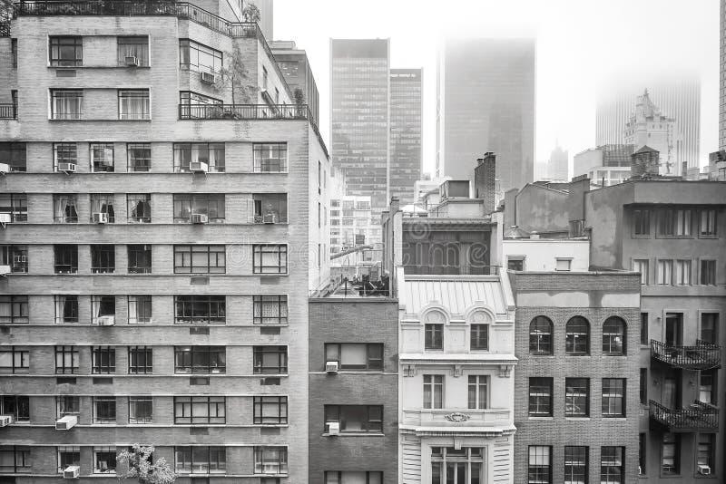 En dimmig dag i New York City, USA fotografering för bildbyråer