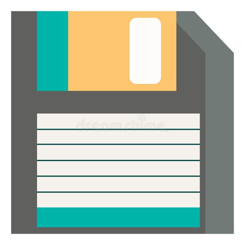 En diskett-, vektor- eller färgbild stock illustrationer