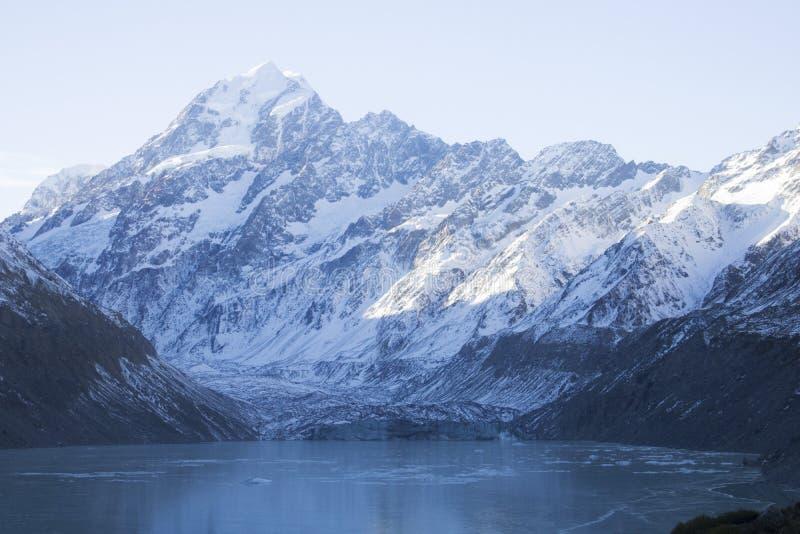 En djupfryst ofruktbar mark i Nya Zeeland arkivfoto