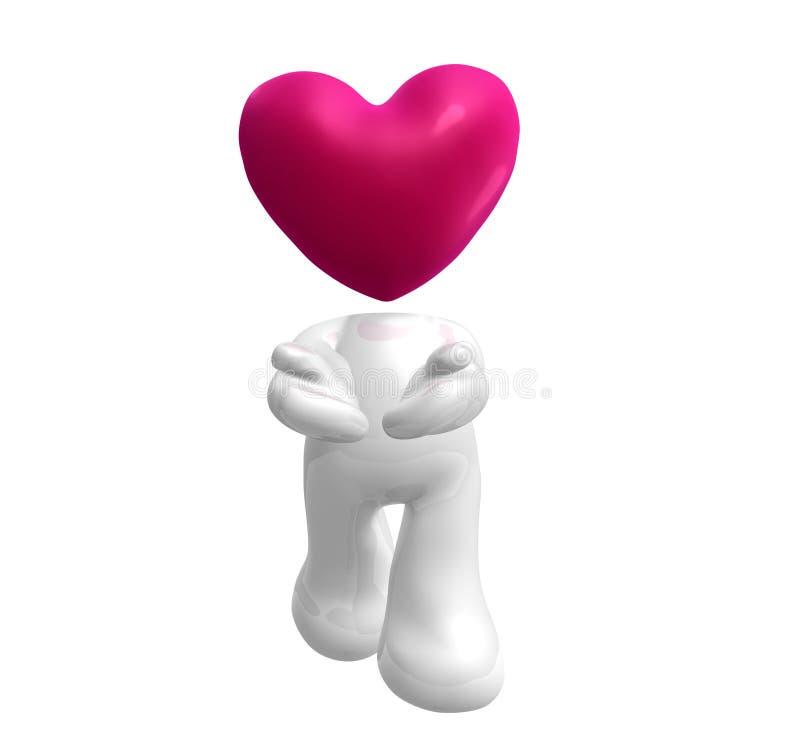 en donnant le coeur aimez-mon vous illustration de vecteur