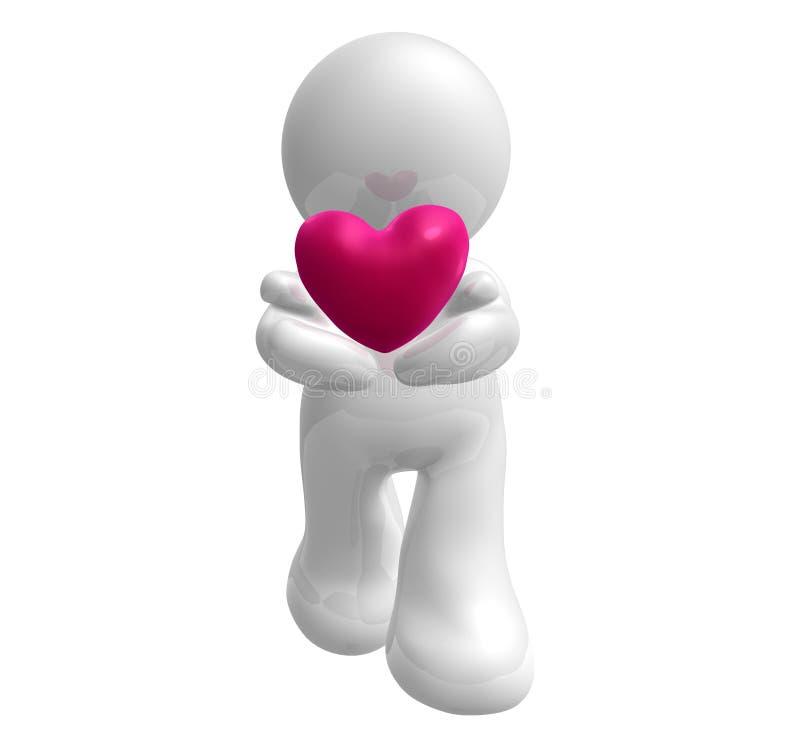 en donnant le coeur aimez-mon vous illustration libre de droits