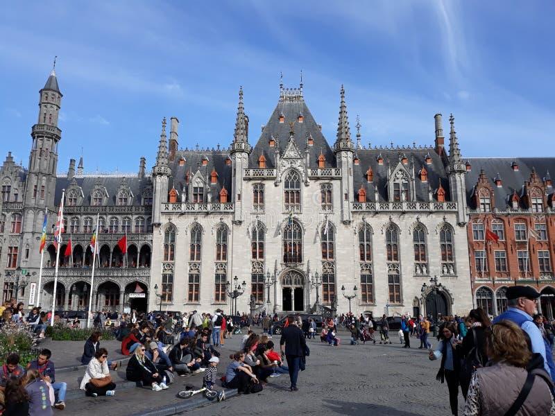 En drift att besöka Bruges - Belgien royaltyfri fotografi