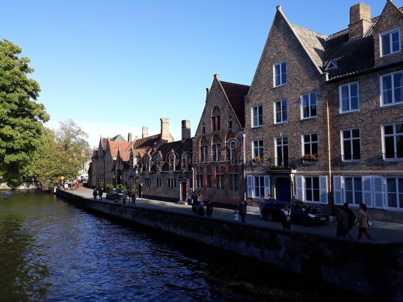 En drift att besöka Bruges - Belgien arkivfoto