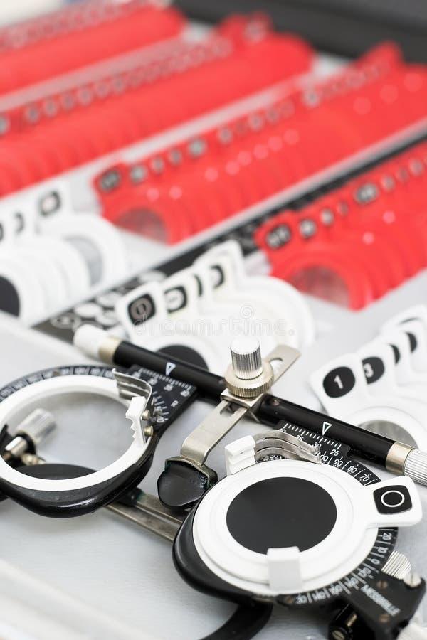 En el óptico - conjunto Universal-messbrille imagen de archivo libre de regalías