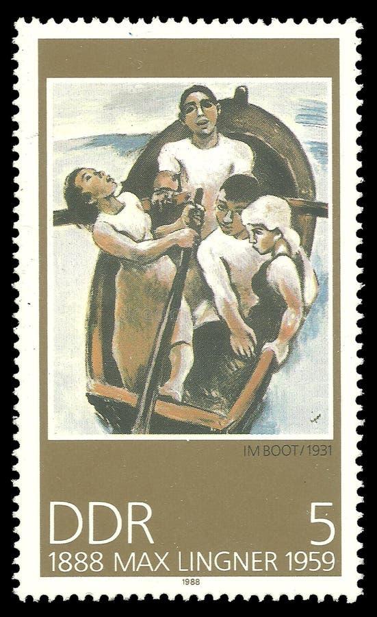 En el barco de Max Lingner fotografía de archivo