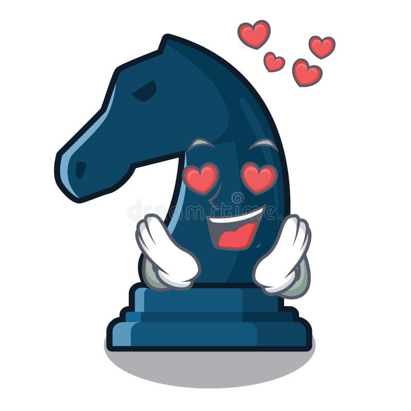 En el caballero del ajedrez del amor aislado con la historieta ilustración del vector