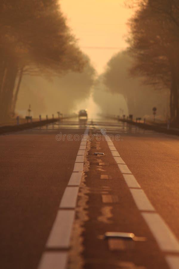 En el camino imagen de archivo