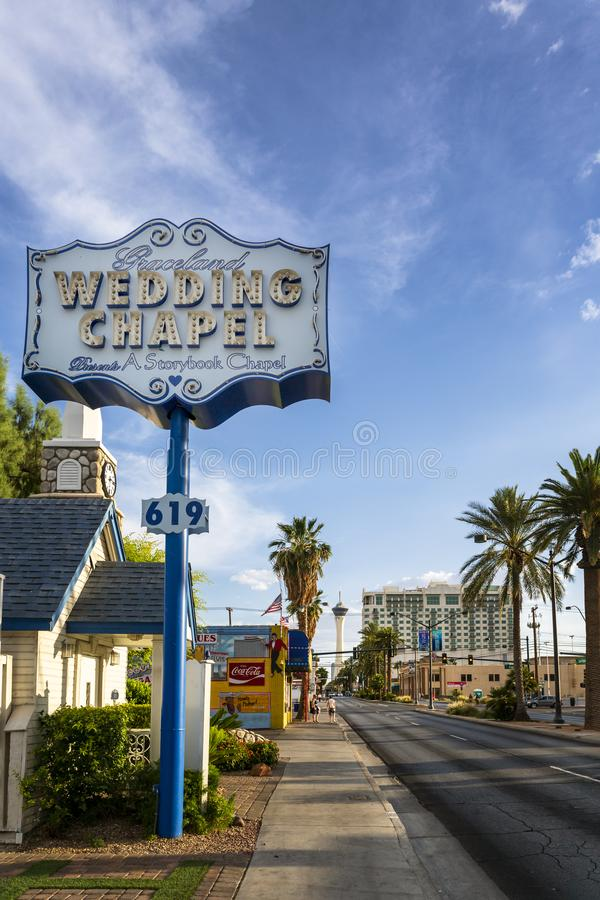 En el centro de la ciudad, Las Vegas fotografía de archivo