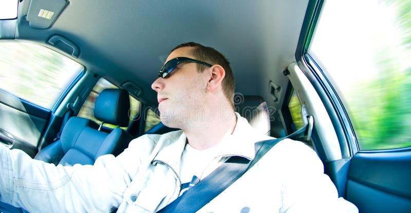 En el coche imagen de archivo libre de regalías