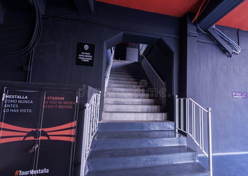 En el estadio de Mestalla fotografía de archivo libre de regalías